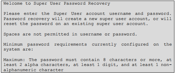 Password recovery TPS-2
