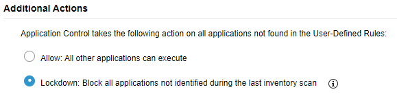 Application Control Rules
