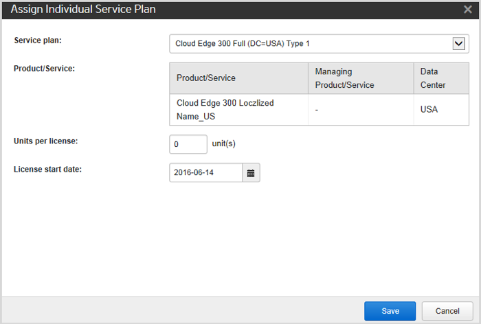 Assign Individual Service Plan screen