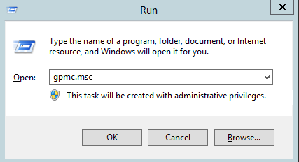 open Group Policy Management console