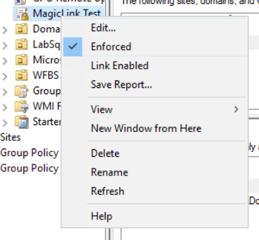 Enforce Group Policy